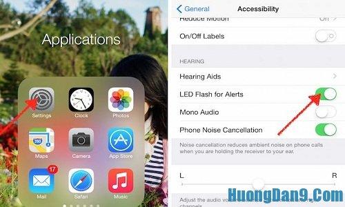 Thủ thuật làm nhận thông báo mới bằng đèn flash trên iPhone 5 có thể bạn chưa biết