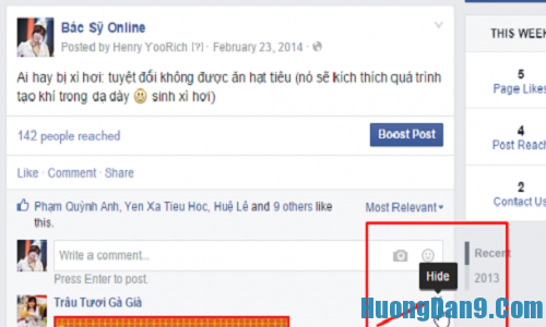 Quản lý fanpage facebook hiệu quả bằng cách ẩn bình luận xấu