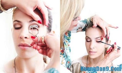 Sử dụng kẹp mi và mascara giúp trang điểm mắt được đẹp hơn