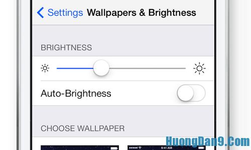 Khắc phục pin yếu cho iphone bằng cách tắt chỉnh sáng tự động
