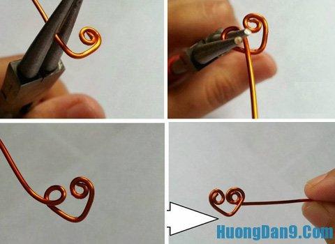 Cách làm nhẫn trái tim từ dây đồng