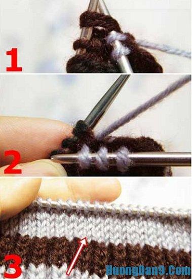 Cách đan găng tay len hở ngón
