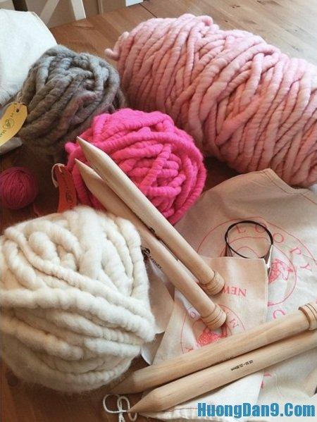 Những nguyên liệu cần chuẩn bị để đan mũ Helsinki Hàn Quốc tại nhà