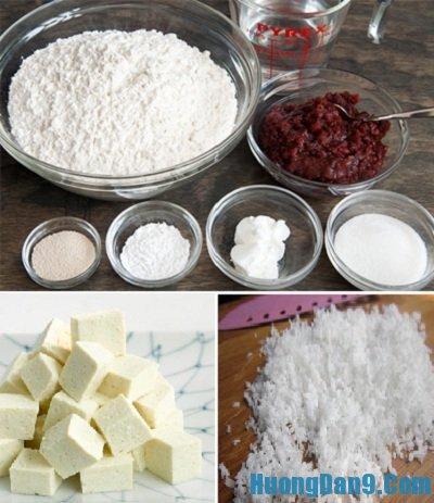 Nguyên liệu làm bánh mochi dừa đậu phụ cần chuẩn bị
