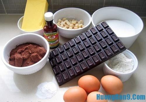 Nguyên liệu làm bánh nướng trung thu socola cần chuẩn bị
