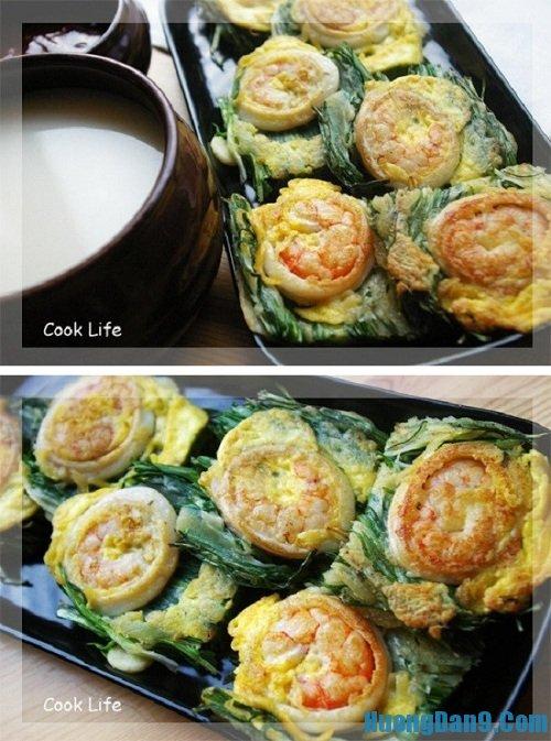 Hướng dẫn cách làm bánh xèo tôm mực Hàn Quốc ngon