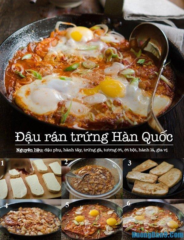 Chi tiết các bước hướng dẫn cách làm đậu phụ rán trứng kiểu Hàn Quốc thơm ngon chuẩn vị nhất