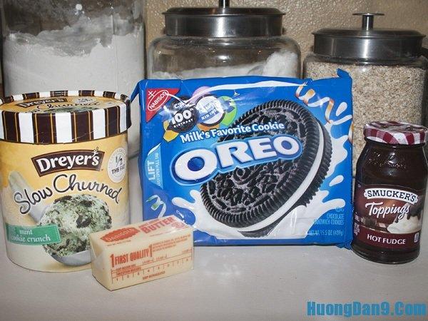 Nguyên liệu làm kem oreo cần phải chuẩn bị