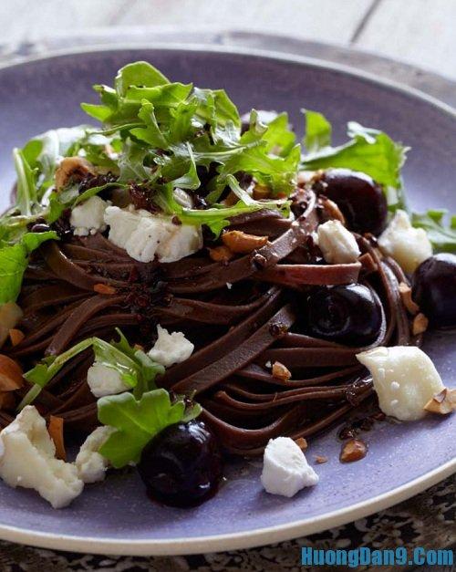 Hướng dẫn cách làm mì chocolate pasta ngon