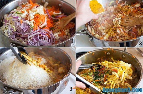 Các bước thực hiện món miến xào cà ri phong cách Singapore đơn giản mà ngon không cưỡng nổi