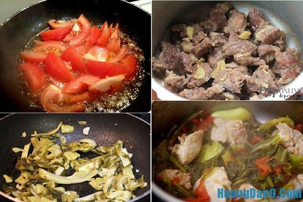 Chi tiết các bước thực hiện cách nấu canh sườn non om dưa chua hấp dẫn, đưa cơm ngày mưa