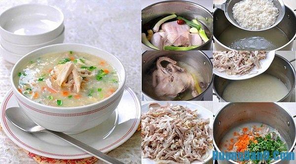 Các bước chi tiết cách nấu cháo gà thơm ngon, bổ dưỡng đổi bữa ngày mưa lạnh