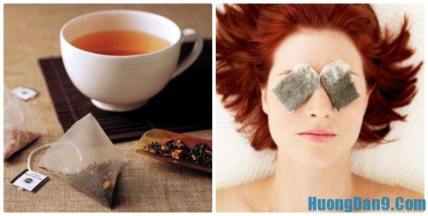 Hướng dẫn trị thâm mắt bằng trà xanh hoặc bã chè