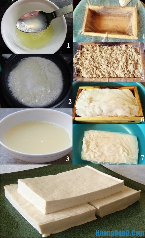 Chi tiết các bước tự làm đậu phụ thơm ngon, an toàn tại nhà