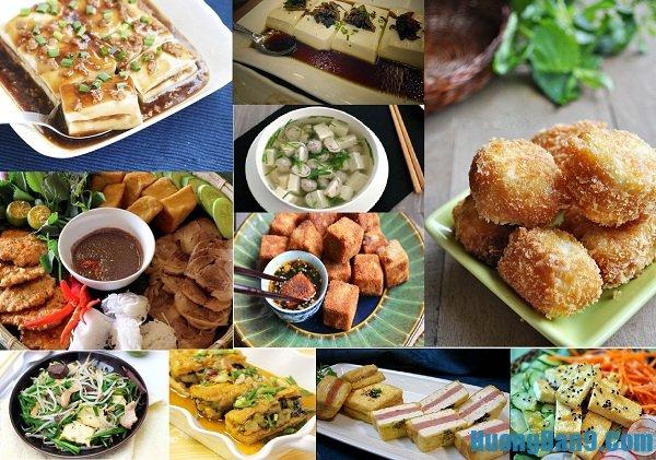 Các món ăn hấp dẫn được chế biến từ đậu phụ