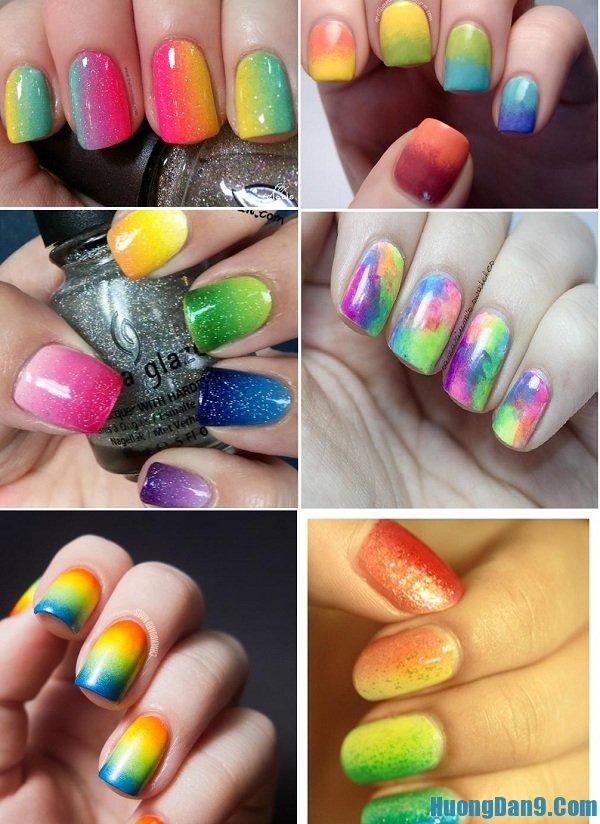 Hướng dẫn vẽ những mẫu nail đa sắc đẹp cho móng tay lạ mắt, xinh xắn