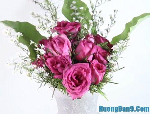 Hướng dẫn cắm hoa tươi cơ bản