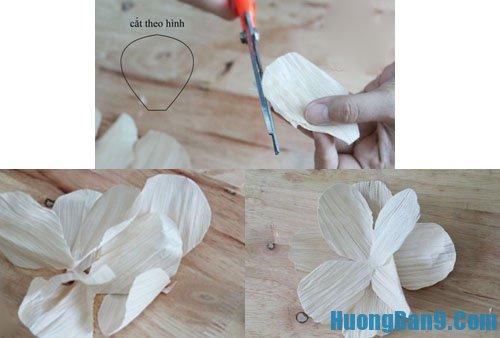 Dạy cách làm hoa giả từ vỏ ngô độc đáo