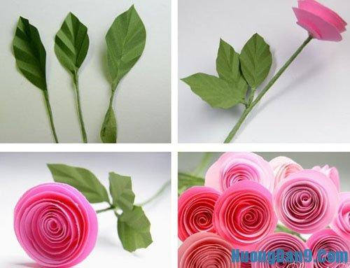 Học cách làm hoa hồng handmade đẹp
