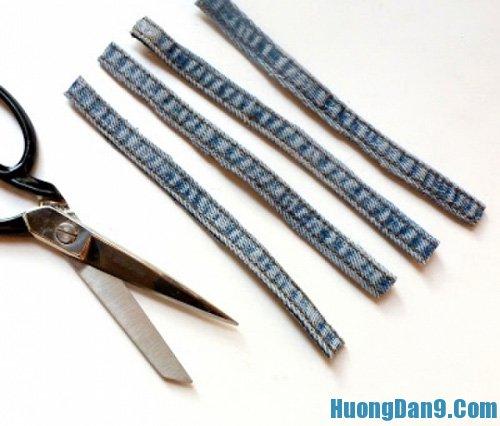 Tự làm vòng tay handmade với vải jean