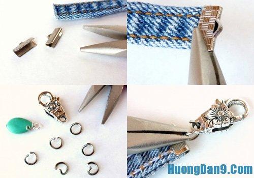 Cách làm vòng tay handmade từ quần bò