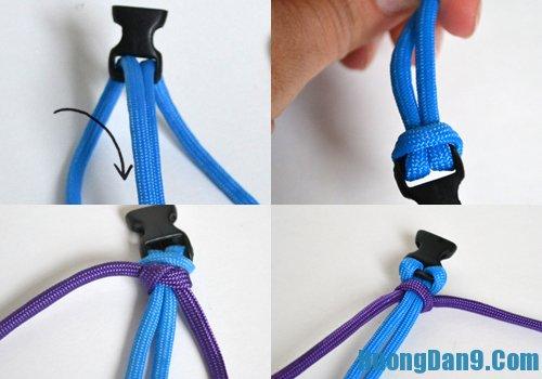 Hướng dẫn chi tiết cách làm vòng tay bằng dây dù