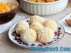 Hướng dẫn cách làm bánh khoai lăn vụn dừa thơm ngon tại nhà