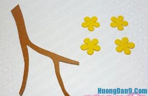 Tạo hoa mai cho cách làm bao lì xì hoa mai ngày tết