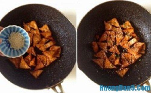 Các bước hướng dẫn cách làm đậu phụ rim ngũ vị thơm ngon