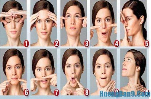 Hướng dẫn cách xóa nếp nhăn trên trắn bằng cách massage mặt
