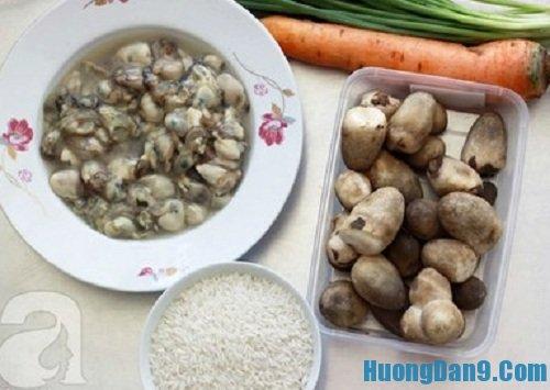 Nguyên liệu chuẩn bị cách nấu cháo hàu cực thơm ngon hấp dẫn cho gia đình