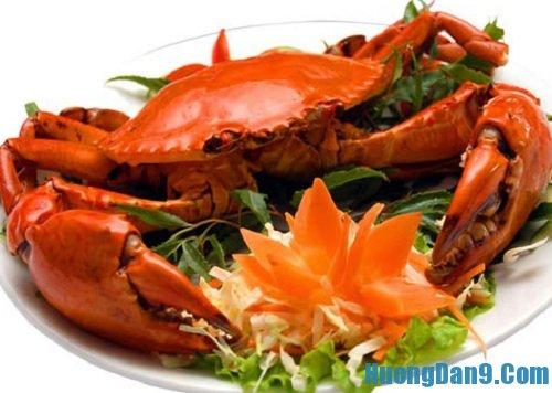 Thành phẩm sau khi thực hiện cách làm cua biển hấp bai thơm ngon tại nhà