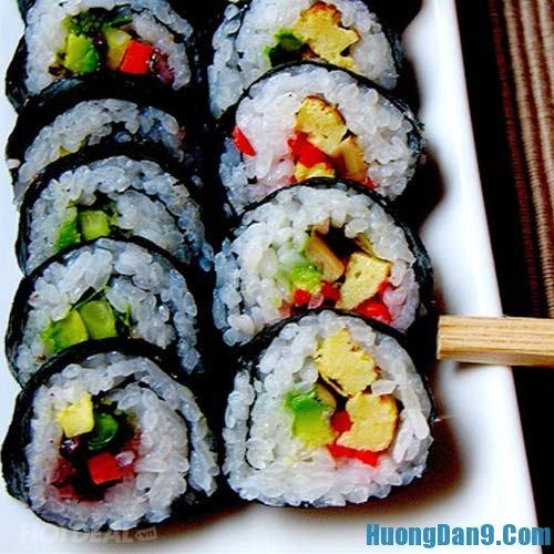 Hướng dẫn cách làm Sushi