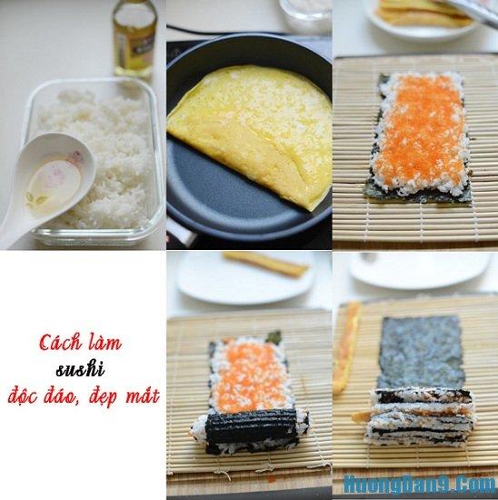 Thực hiện cách làm sushi ngon tại nhà