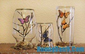 Hướng dẫn cách làm khu vườn bướm xinh trong lọ thủy tinh