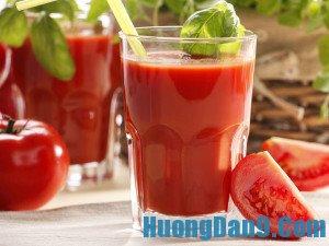 Hướng dẫn cách làm nước ép cà chua giảm cân, đẹp da hiệu quả