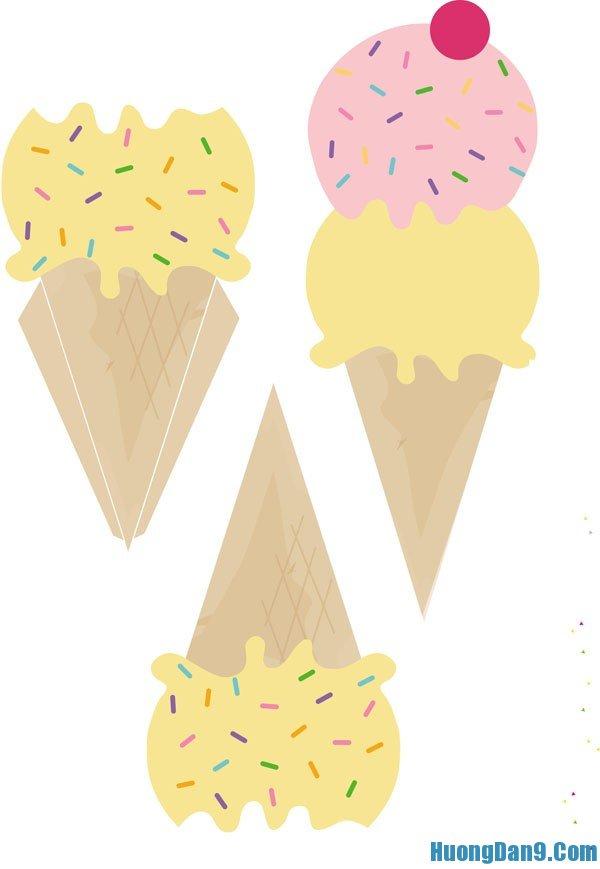 Hình mẫu thiệp que kem đáng yêu, xinh xắn theo hướng dẫn cách làm thiệp 20/10 siêu đơn giản tại nhà