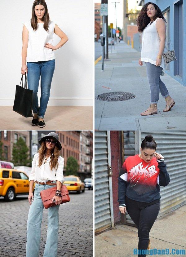 Chú ý đến màu sắc khi chọn quần jean là bí quyết giúp bạn gái đùi to, chân ngắn mặc quần jean đẹp nhất