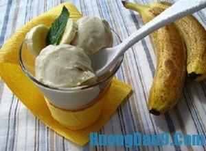 Hướng dẫn cách làm kem chuối với sữa tươi thơm mát tại nhà