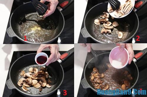 Hướng dẫn chi tiết cách làm thịt bò áp chảo sốt nấm