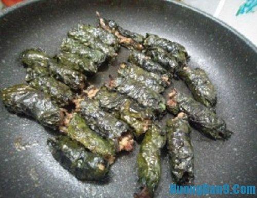 Các bước hướng dẫn chi tiết cách làm thịt cuộn tía tô