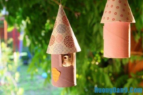 Hướng dẫn cách làm chuông gió bằng lõi giấy vệ sinh đơn giản tại nhà