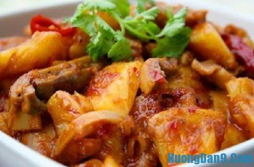 Hướng dẫn cách làm dạ dày sốt chua ngọt hấp dẫn