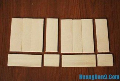 Các bước hướng dẫn chi tiết cách làm danbo bằng que đè lưỡi