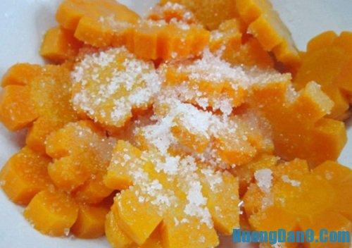 Hướng dẫn chi tiết cách làm mứt cà rốt