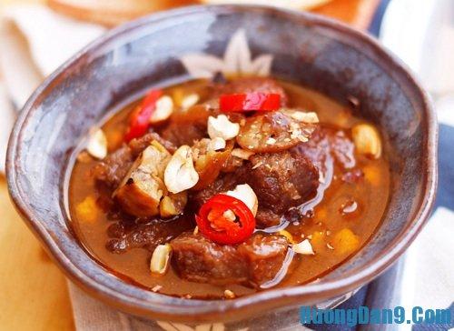 Hướng dẫn cách làm thịt bò hầm hạt dẻ cực ngon