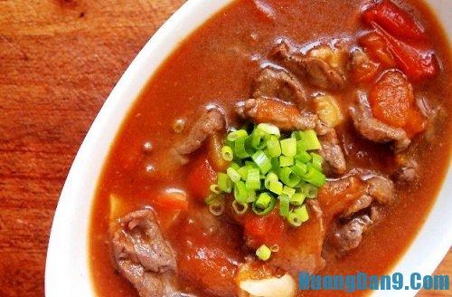 Hướng dẫn cách làm thịt bò sốt cà chua thơm ngon hấp dẫn