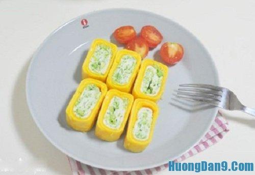 Hướng dẫn cách làm trứng cuộn súp lơ thơm ngon hấp dẫn