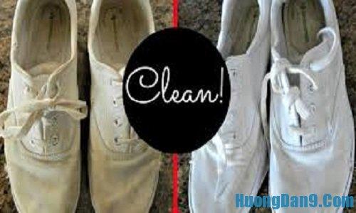 Hướng dẫn cách tẩy vết bẩn cho giày trắng đơn giản tại nhà