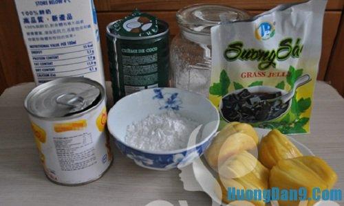 Nguyên liệu chuẩn bị cách làm kem mít đơn giản tại nhà